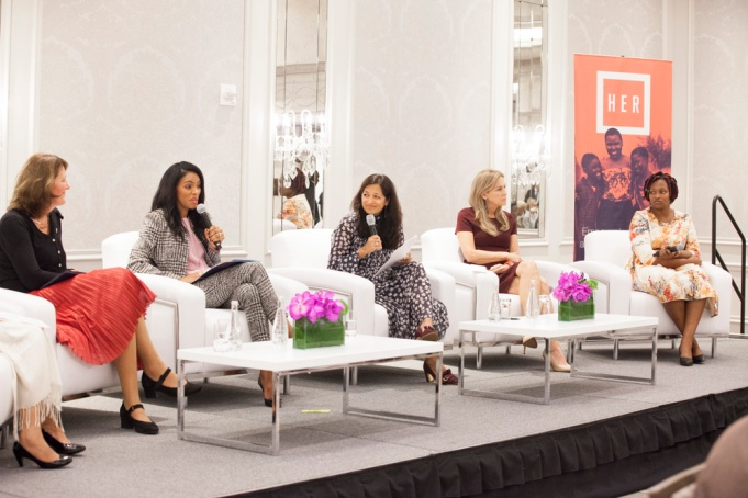 HER Luncheon by the Global Fund photographed by Rose Callahan at the Intercontinental Barclay Hotel NYC on Sept 20, 2017